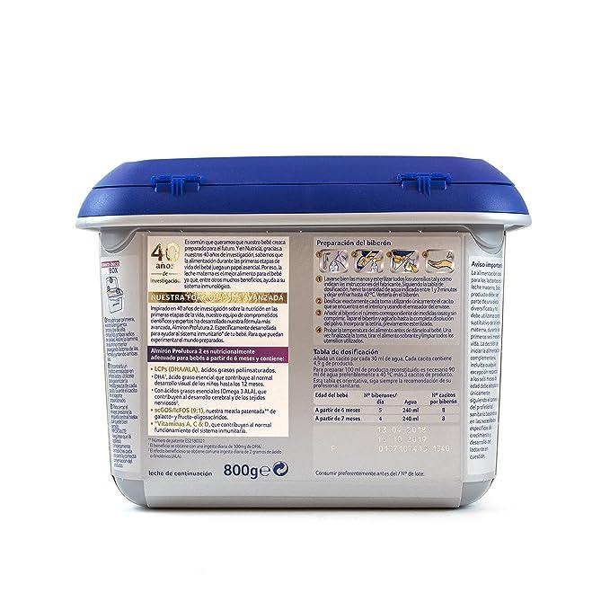 Almirón Profutura 2 Leche de continuación en polvo desde los 6 meses 800 g: Amazon.es: Alimentación y bebidas