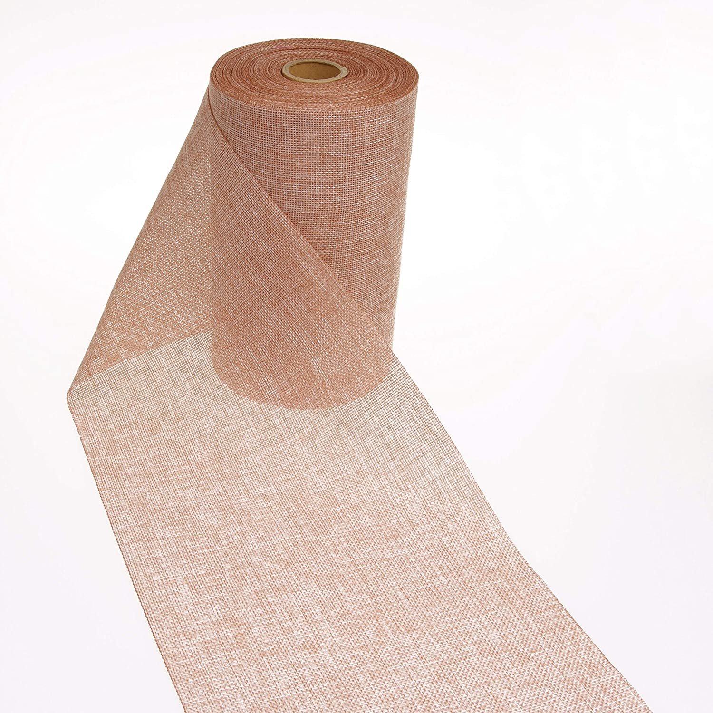 /25/m/ /69 9 Deko AS GmbH Chemin de Table en Lin Aspect Shabby Chic 20/cm/ 25 200 /Cuivre/