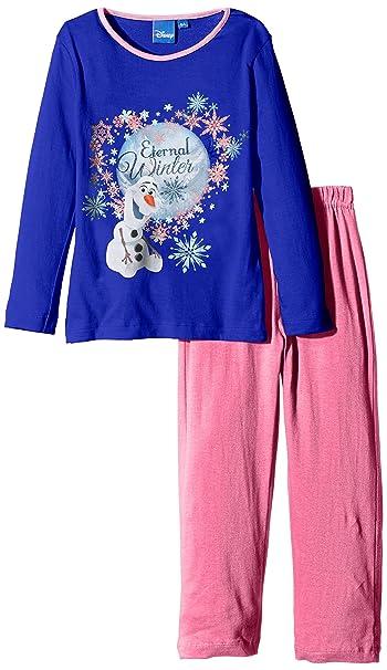 Disney Frozen Olaf-Pijama Niñas, Azul (Blue) 5 años (Talla Fabricante