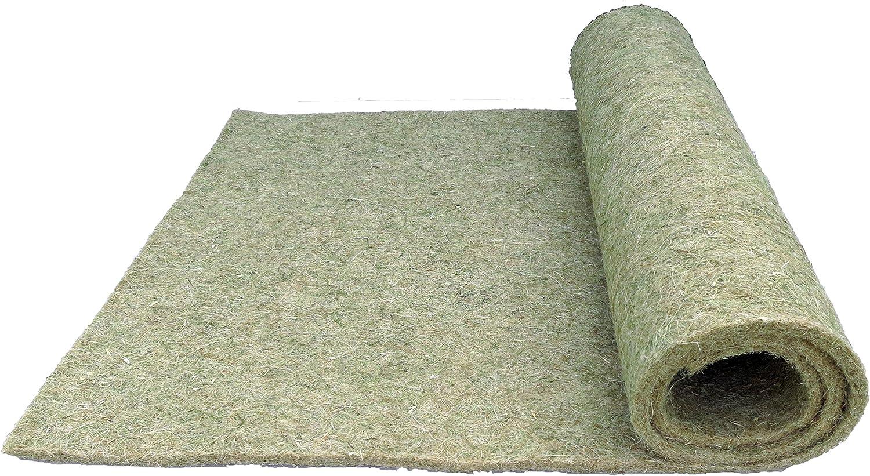 Roedores de alfombra de 100% de Cáñamo, 120x 50cm, 10mm de grosor, Matte adolescente Adecuado como jaula suelo bedeckung por ejemplo para conejos, cobayas, hámster, degus, ratas y otros roedores.