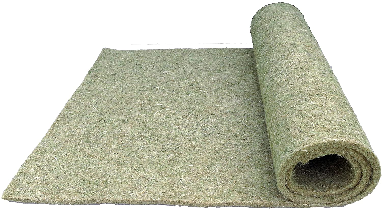 Nager-Teppich aus 100 % Hanf, 200x70cm, ca. 5mm dick, 25er Pack, Nagermatte geeignet als Käfig Bodenbedeckung z.B. für Kaninchen, Meerschweinchen, Hamster, Degus, Ratten und andere Nagetiere.