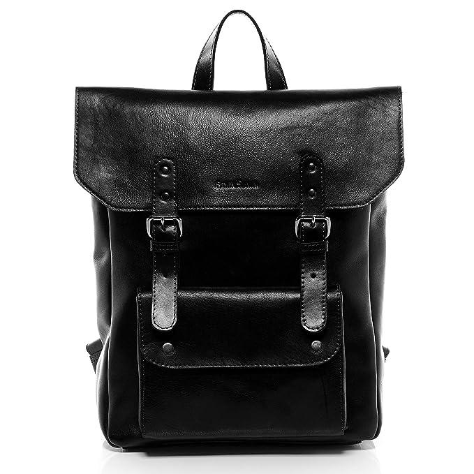 FEYNSINN® Mochila Phoenix Backpack morral 14 Bolso de Hombro Piel Negro: Amazon.es: Ropa y accesorios