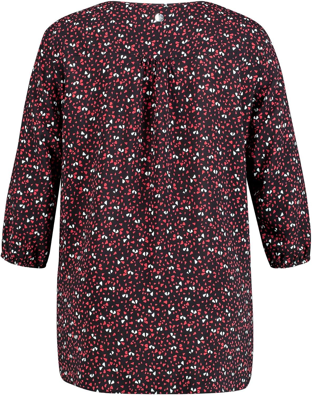Samoon Camicia da Donna Multicolor (Black Patterned 1102)