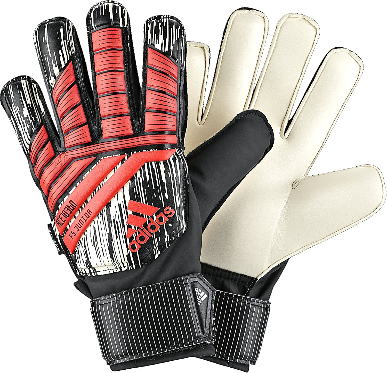 Adidas Performance Ace Fingersave Junior Manuel Torwart Handschuhe, hell rot, Größe 4