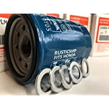RusticShip - Honda oil filter 15400-PLM-A01- Pack/case of 5 w/94109-14000 washer oil drain/Acura, Civic, Accord, CR-V, Odyssey, Crosstour, Pilot, Prelude, Element, Ridgeline models