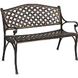 Best Choice Products Cozumel Antique Copper Cast Aluminum Bench Outdoor Patio