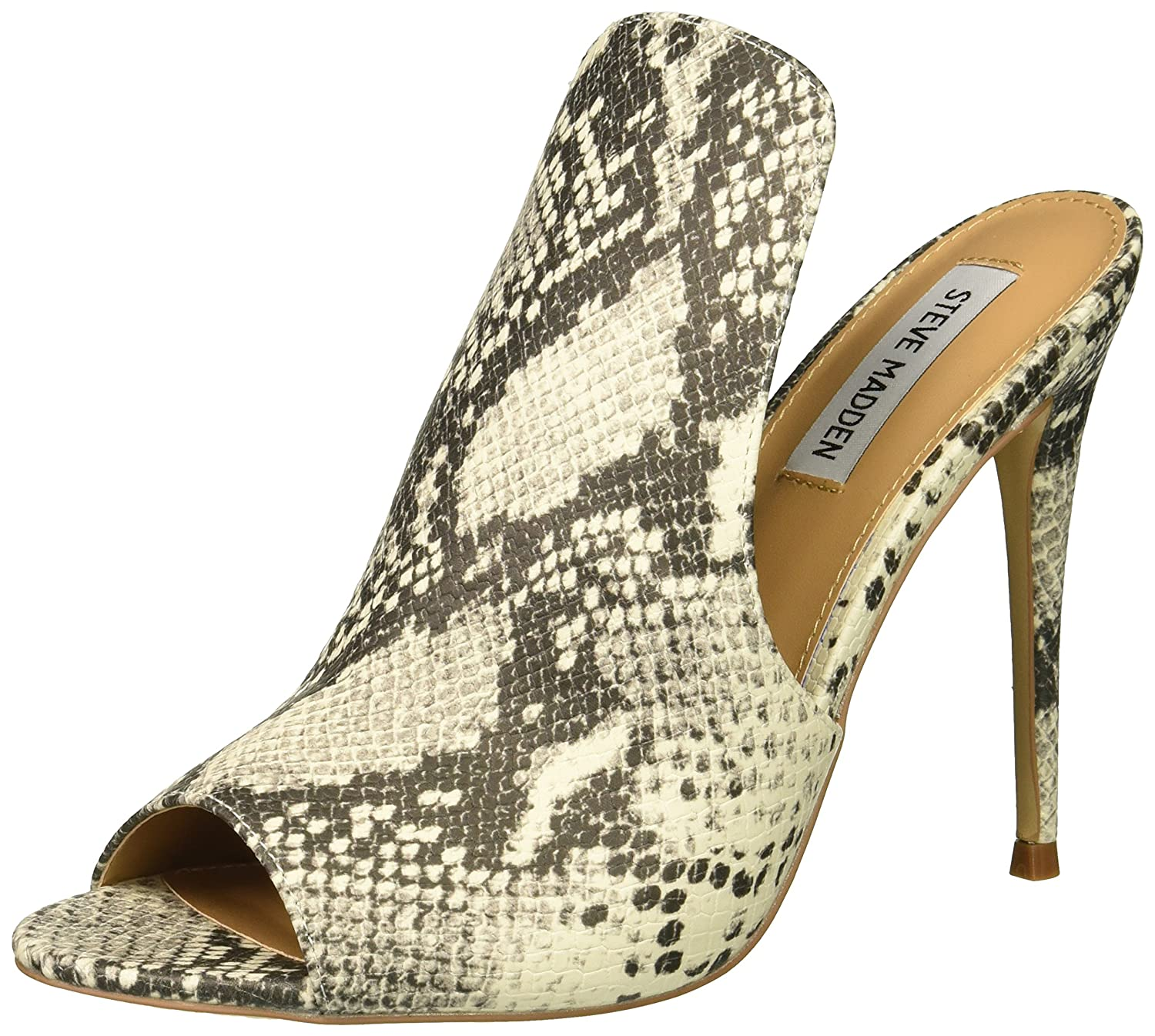 Steve Madden Donna  Sinful Heeled Sandal, Natural Snake, 6.5 M US