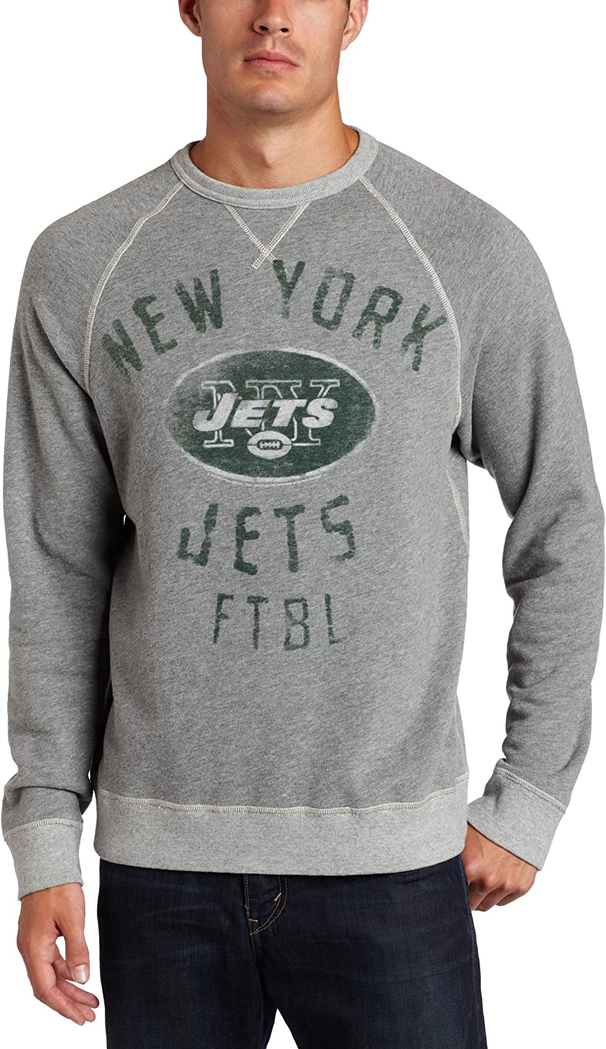 NFL New York Jets Heather Terry Men's Classic Import French Raglan Vintage