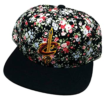 8fd1c7efd1904 Cleveland Cavaliers Cavs Adidas Floral Tropical Flowers Black Pink Snapback  Hat Cap  Amazon.ca  Sports   Outdoors