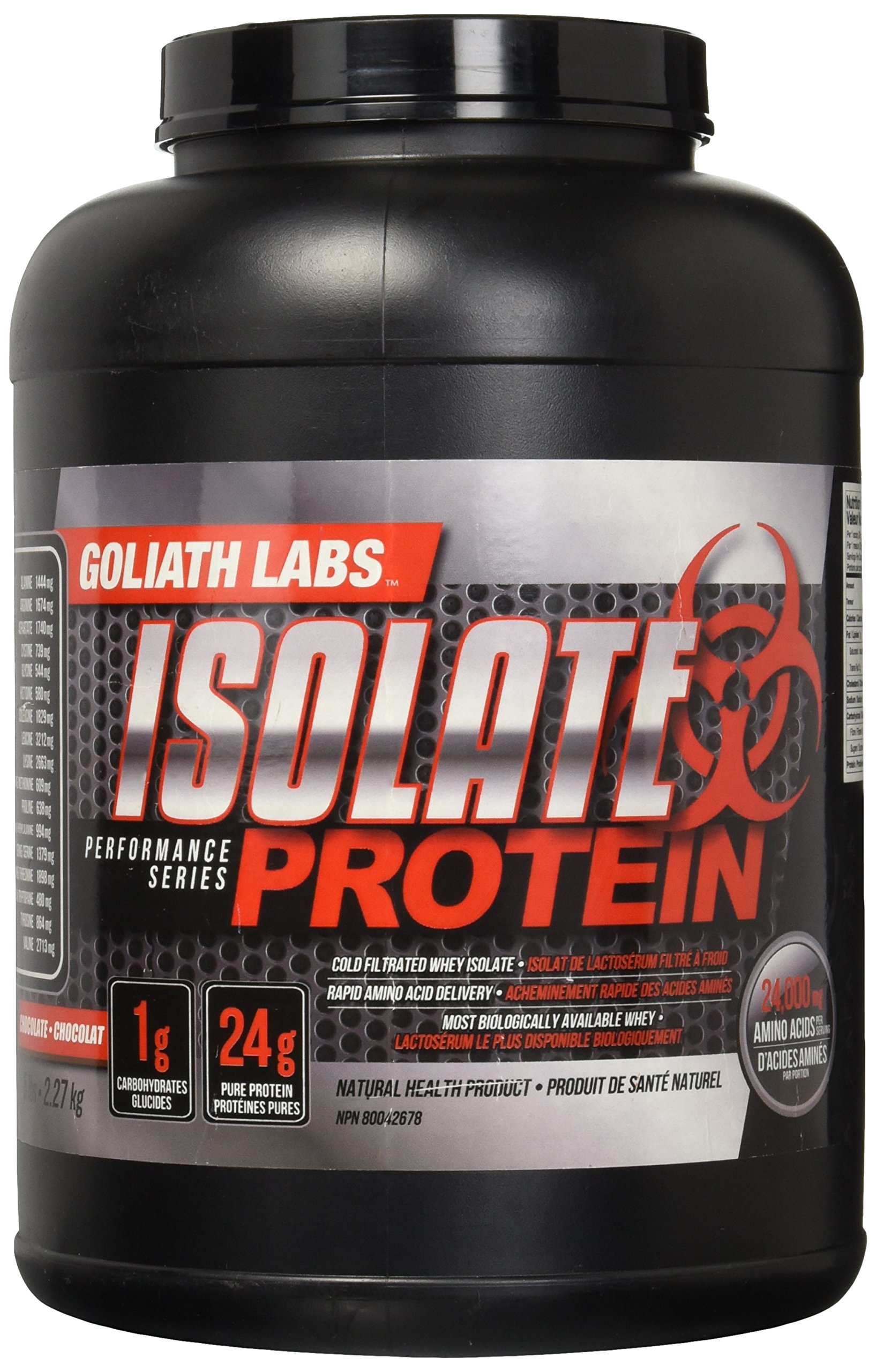 aa6dc49f5 Amazon.com  Goliath Labs Isolate Protein 5 Lbs (Vanilla)  Health   Personal  Care