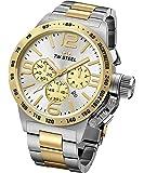 TW Steel Canteen Bracelet CB34 - Mouvement Quartz - Affichage Chronographe - argent et Cadran Argent - Mixte