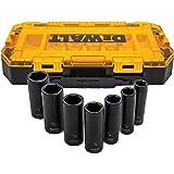 """DEWALT Conjunto de soquetes de impacto profundo, 7 peças, unidade SAE de 1,27 cm (1/2"""") (DWMT74736)"""