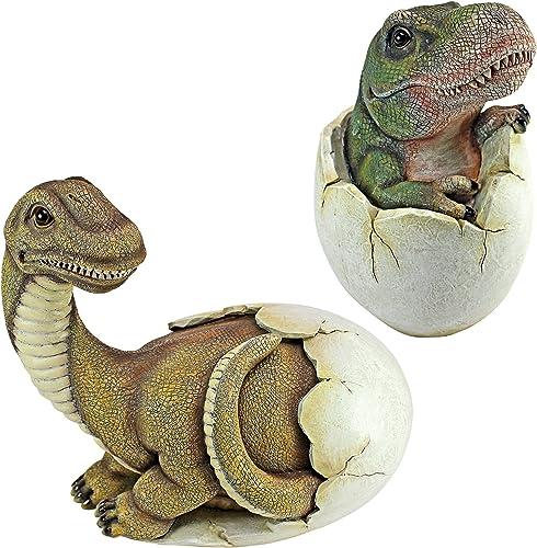 Design Toscano QM92728000 Baby Dinosaur Egg Hatchling Statue