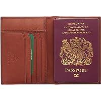 Visconti Colección Polo Porta Pasaporte de Cuero Bloqueo RFID 2201 Marrón