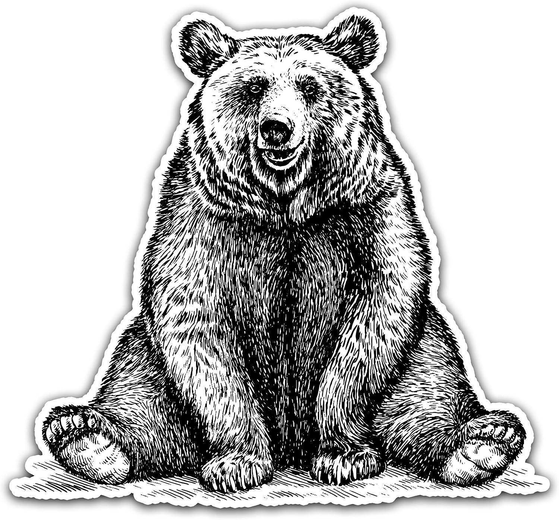 5 Wide Northern Dock Bear Vinyl Decal Outdoor Adventure Mountain Bear Bumper Sticker