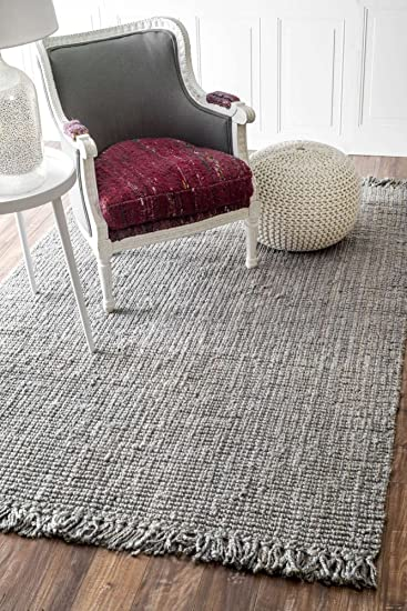 Amazon Com Contemporary Area Rug Indoor Outdoor Rugs Grey Natural