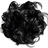 PRETTYSHOP XXXL Hairpiece Hair Wrap Scrunchie Scrunchy Updos, VOLUMINOUS, Curly Messy Bun,