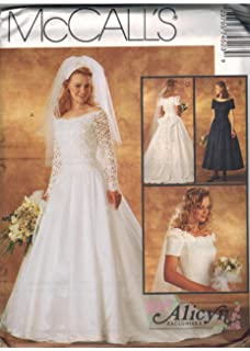 7452 McCalls Sewing Pattern UNCUT Misses Wedding Dress Bridal Gown Size 10 12 14