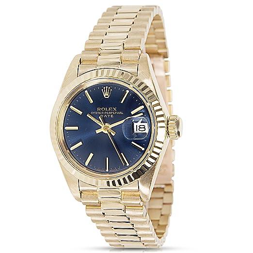 e59c8d34c34c Rolex Fecha 6917 8 Reloj de pulsera para mujer en oro amarillo de 18 K  (Certificado) de segunda mano  Rolex  Amazon.es  Relojes
