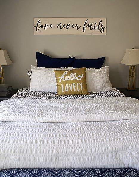 Amazon Com Olga212patrick Love Never Fails Rustic Wood Plaque Sign