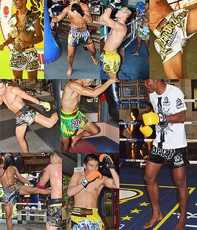 Amazon.com: Phenom pantalones cortos de muay thai Kickboxing ...