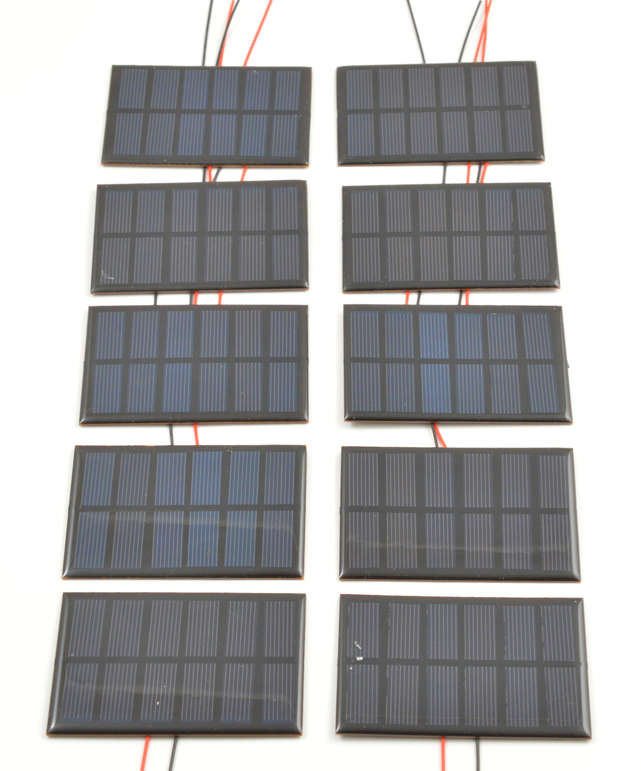 Small Solar Panel 3.0V 200mA with wires-10 pack