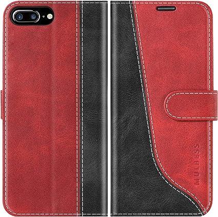 Mulbess Custodia per iPhone 8 Plus, Cover iPhone 8 Plus Libro, Custodia iPhone 7 Plus, Custodia iPhone 8 Plus Pelle, Flip Cover per iPhone 8 Plus ...