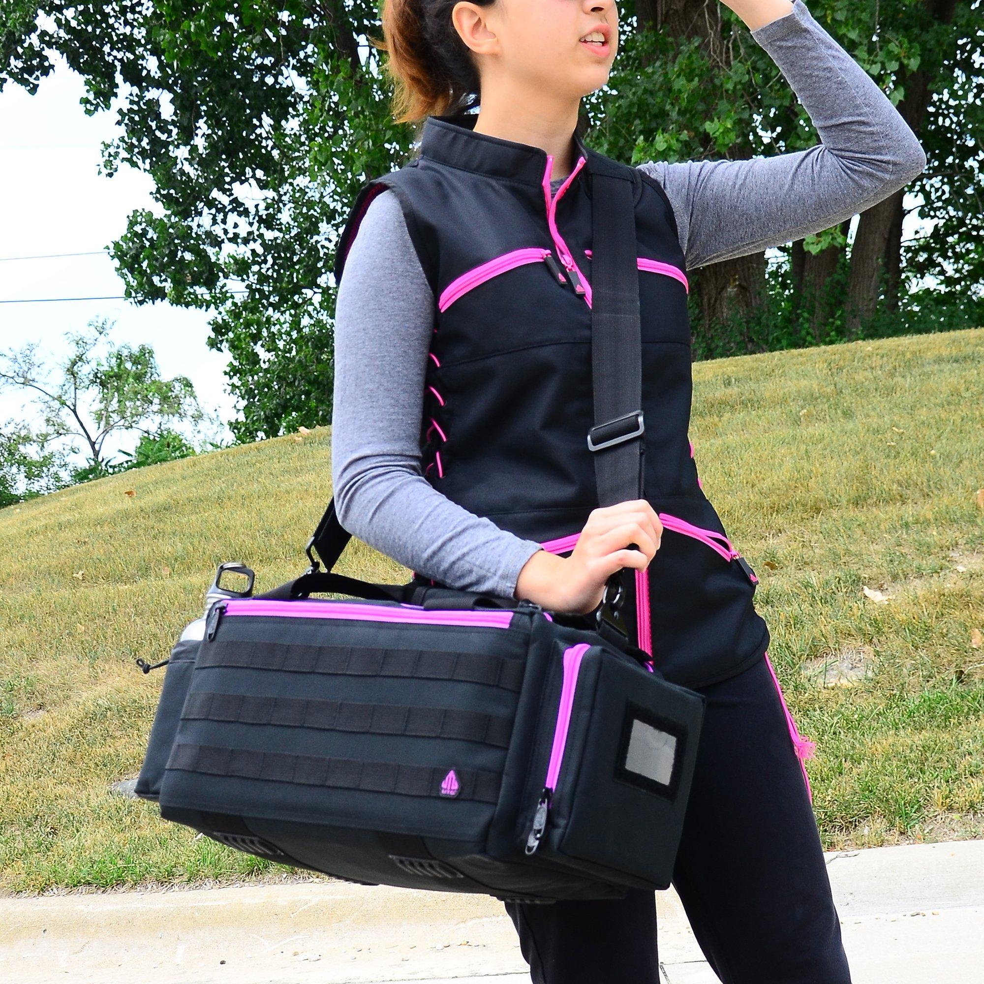 UTG All in One Range/Utility Go Bag, Black/Violet, 21'' x 10'' x 9'' by UTG (Image #3)