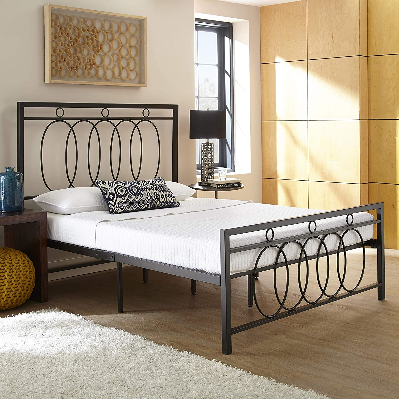 Boyd Sleep Pilar Metal Platform Bed Frame/Mattress Foundation with Headboard and Footboard, King