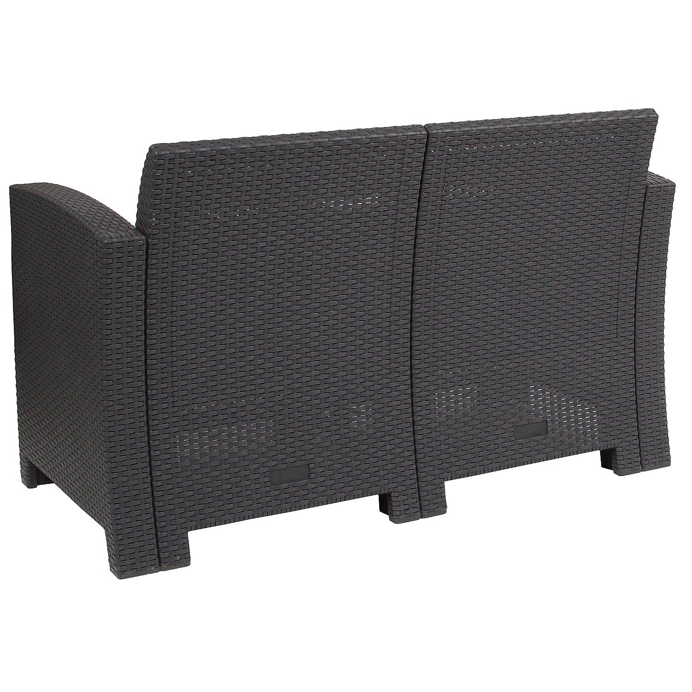 Amazon.com: flash furniture sintética de gris oscuro ratán ...