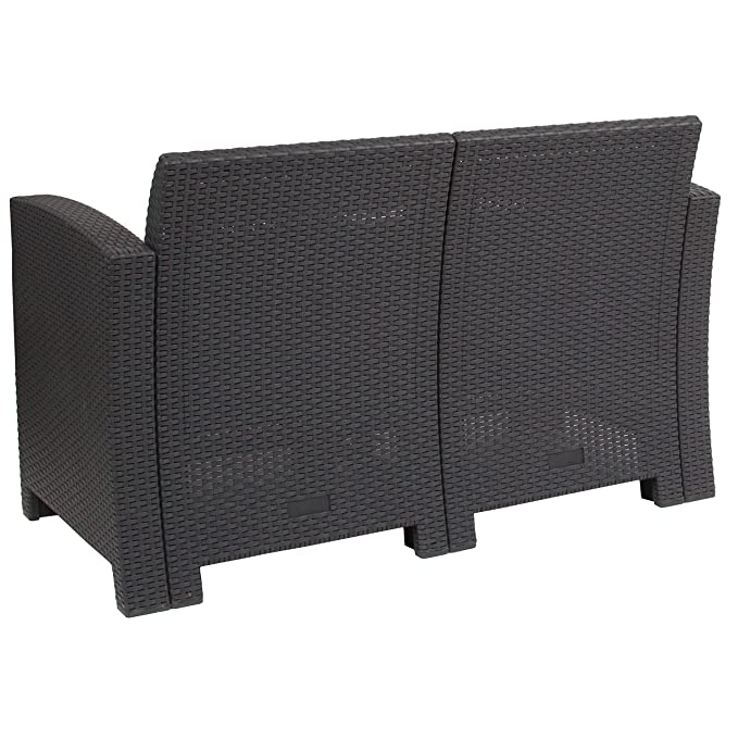 Amazon.com: flash furniture sintética de gris oscuro ratán ...