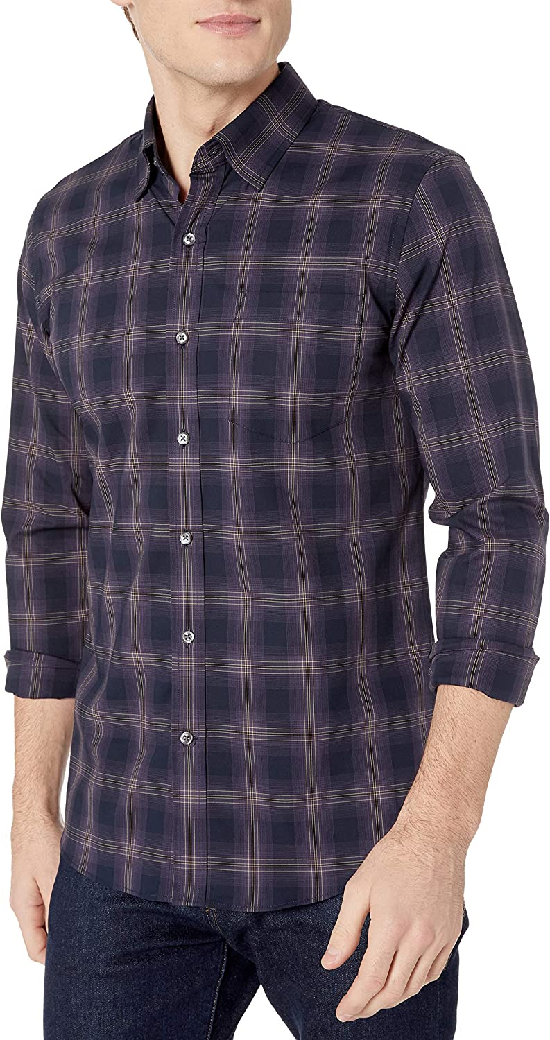Goodthreads Slim-fit Long-Sleeve Stretch Poplin All Hours Hombre