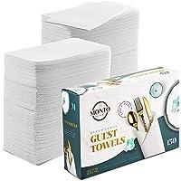 MontoPack Toallas desechables de lino blanco | Servilletas de mano suaves, absorbentes y similares a la tela para sala…