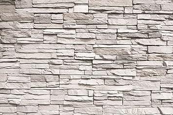 Fototapete White Stonewall Wandbild Dekoration Steintapete 3d Stein Mauer  Wandverkleidung Steinoptik Weiß Steinwand Steinmauer | Foto