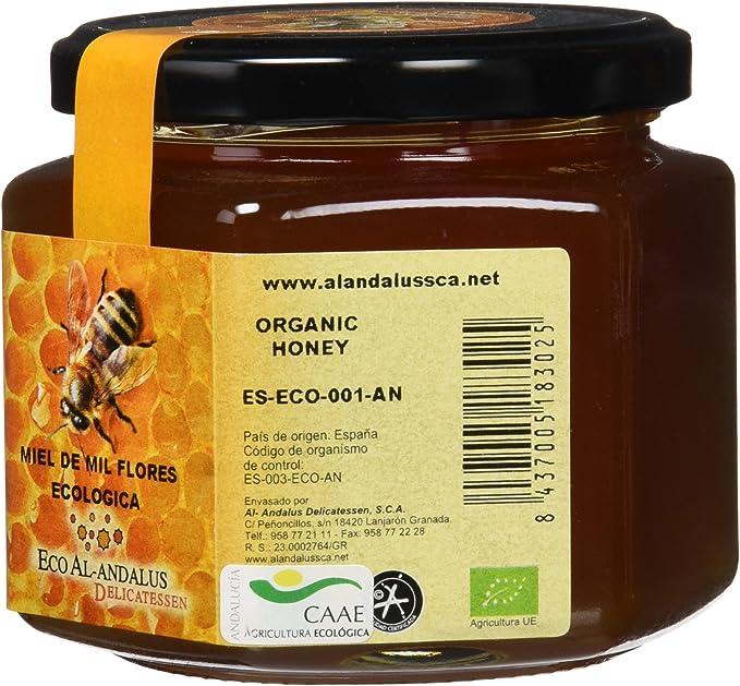 Eco Al-Andalus Delicatessen Miel Ecológica de Mil Flores 500 gr.: Amazon.es: Alimentación y bebidas