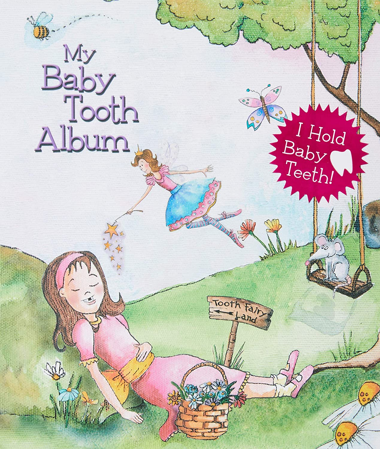 Baby Tooth Album Keepsake Flapbook, Girls, Pink LDBTAFB22