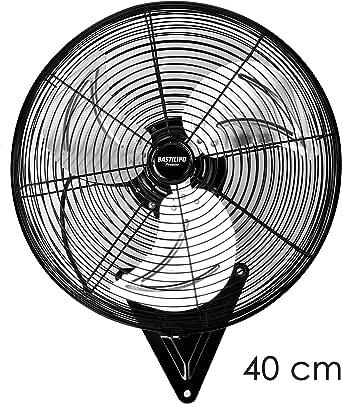 Bastilipo Levante 50cm Ventilador Industrial de pared-110W, Negro ...