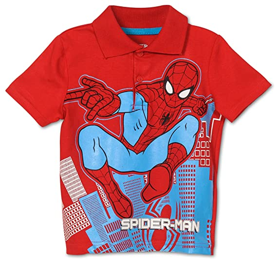 9c268d1c249 Amazon.com  Marvel Toddler Boys  Spiderman Polo Shirt (2T)  Clothing
