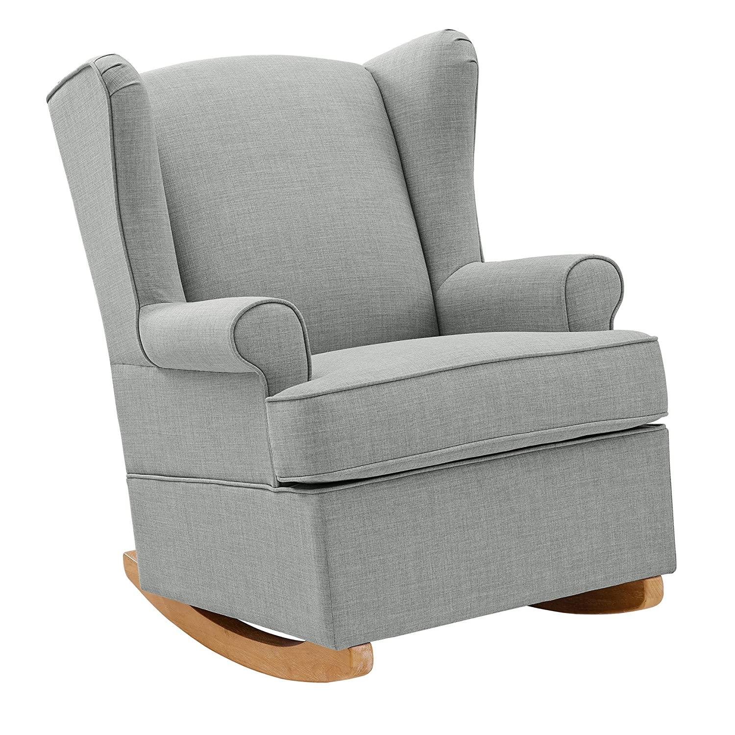 Cool Baby Relax Wainwright Wingback Convertible Rocker Chair Gray Linen Pdpeps Interior Chair Design Pdpepsorg