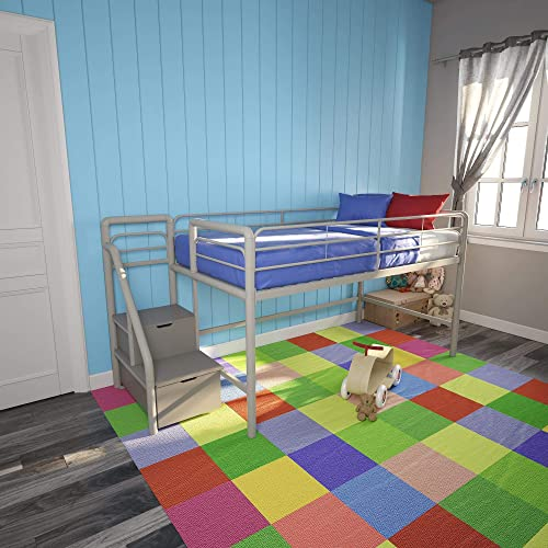 DHP Junior Metal Loft Bed