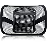 """Mesh Lumbar Support for Car Seat or Office Chair, VEY Breathable Seating Cushion for All Types Car Seats Office Chair 12"""" x 16"""""""