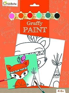 Avenue Mandarine-Blocco da Pittura Animali Picture-Kit per Pittura, Motivo: Gatto, Multicolore