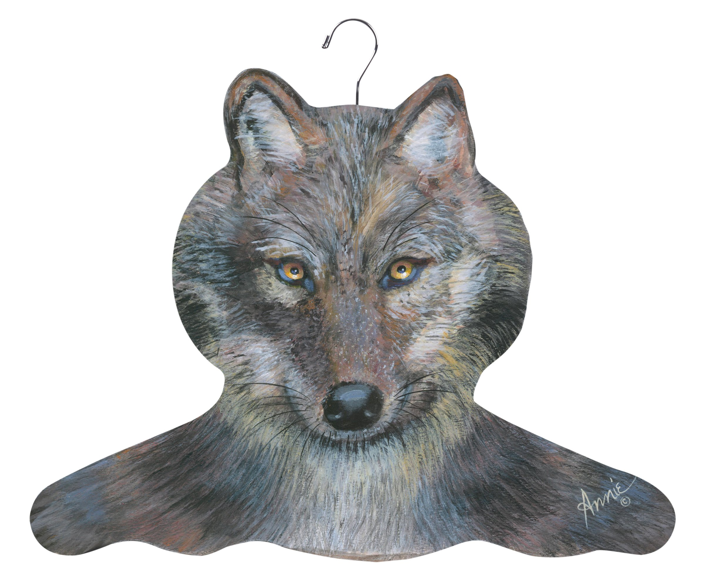 Stupell Home Décor Wolf Hanger, 17 x 0.4 x 11, Proudly Made in USA