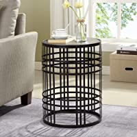 FirsTime and Co Bronze Wood Round End Table Deals