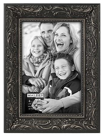 ornate black picture frames rectangle black malden international designs classic ornate black wood picture frame 4x6 amazoncom