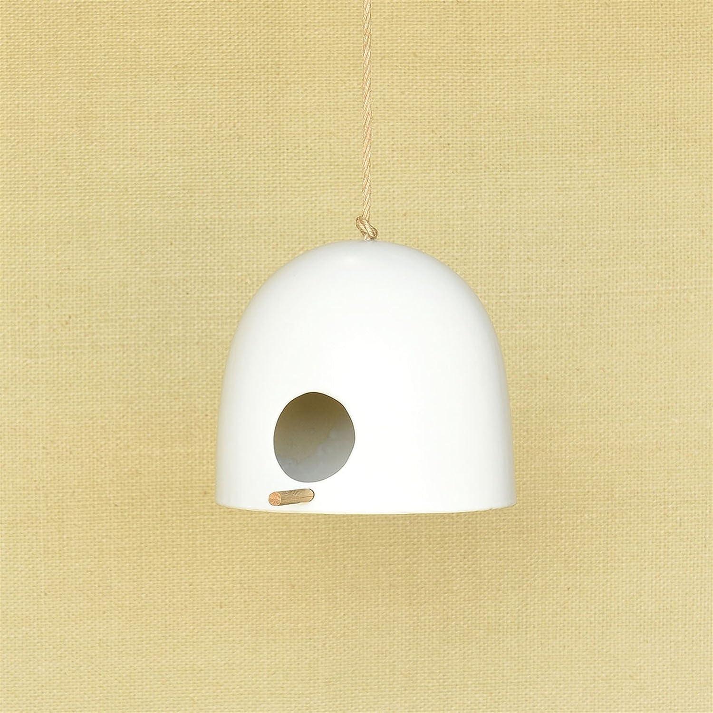 Amazon.com : Mid Century Modern Ceramic Bird House | Hanging Outdoor ...