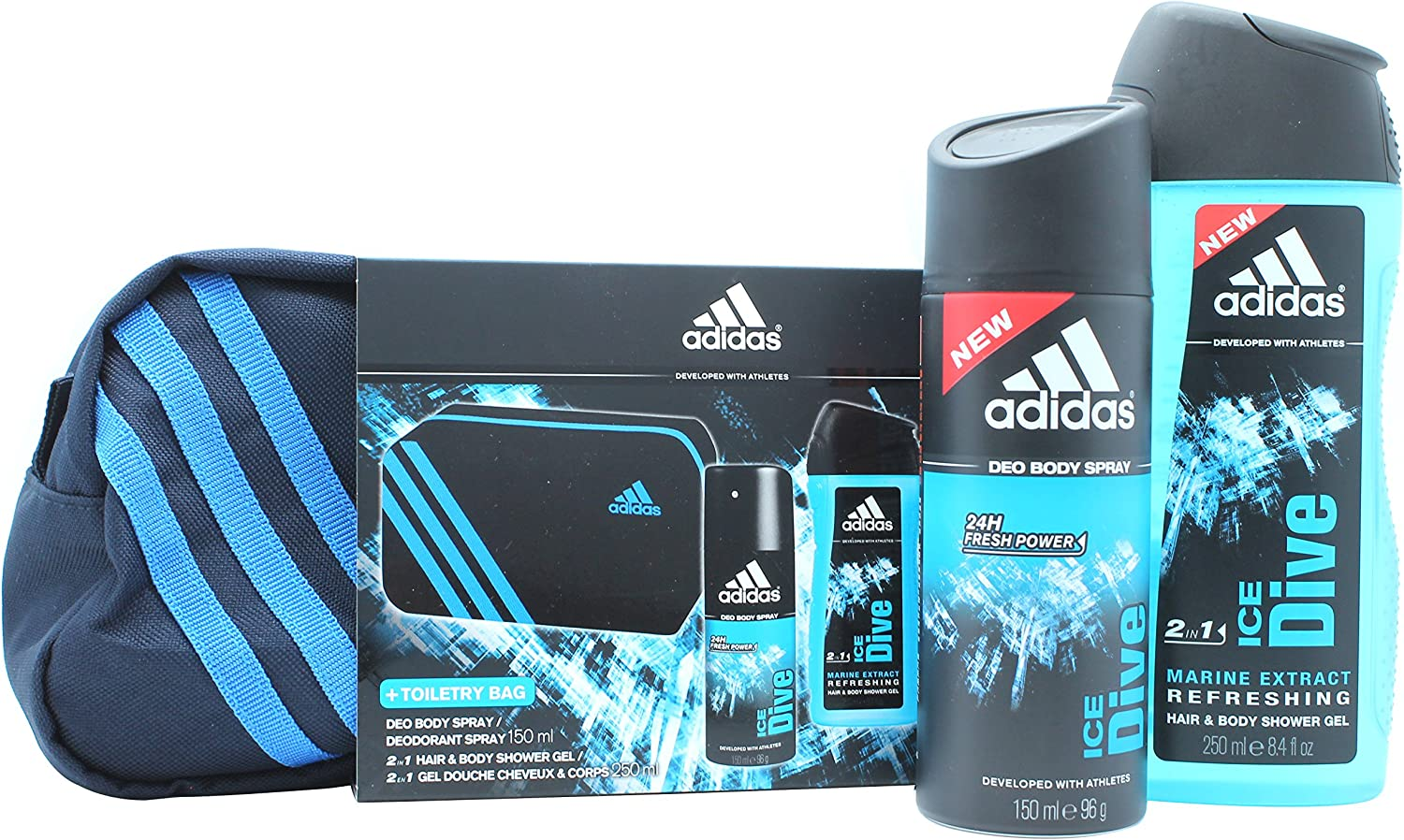 adidas Ice Drive regalo paquete Desodorante Spray 150 Ml, gel de ...