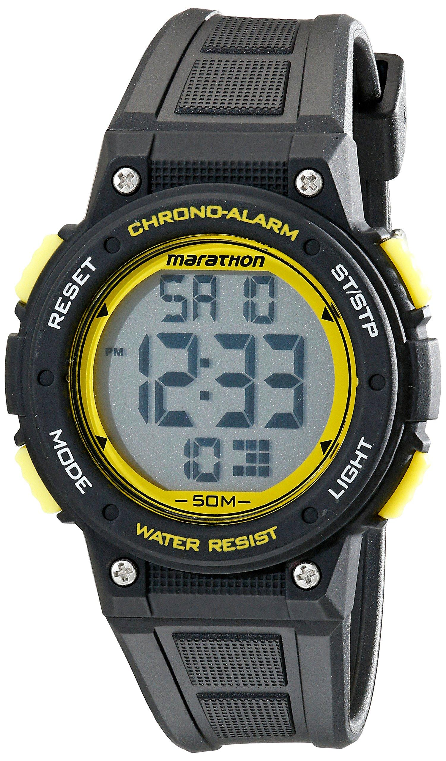 Timex Unisex TW5K84900 Marathon Digital Watch with Black Band by Timex