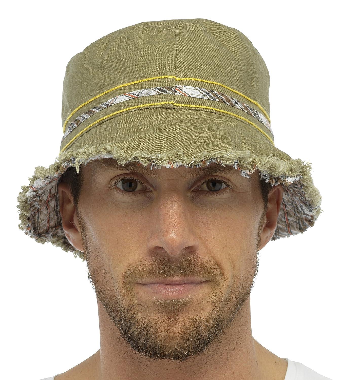 Atano Unisex Cotton Check Reversible Bucket Hat