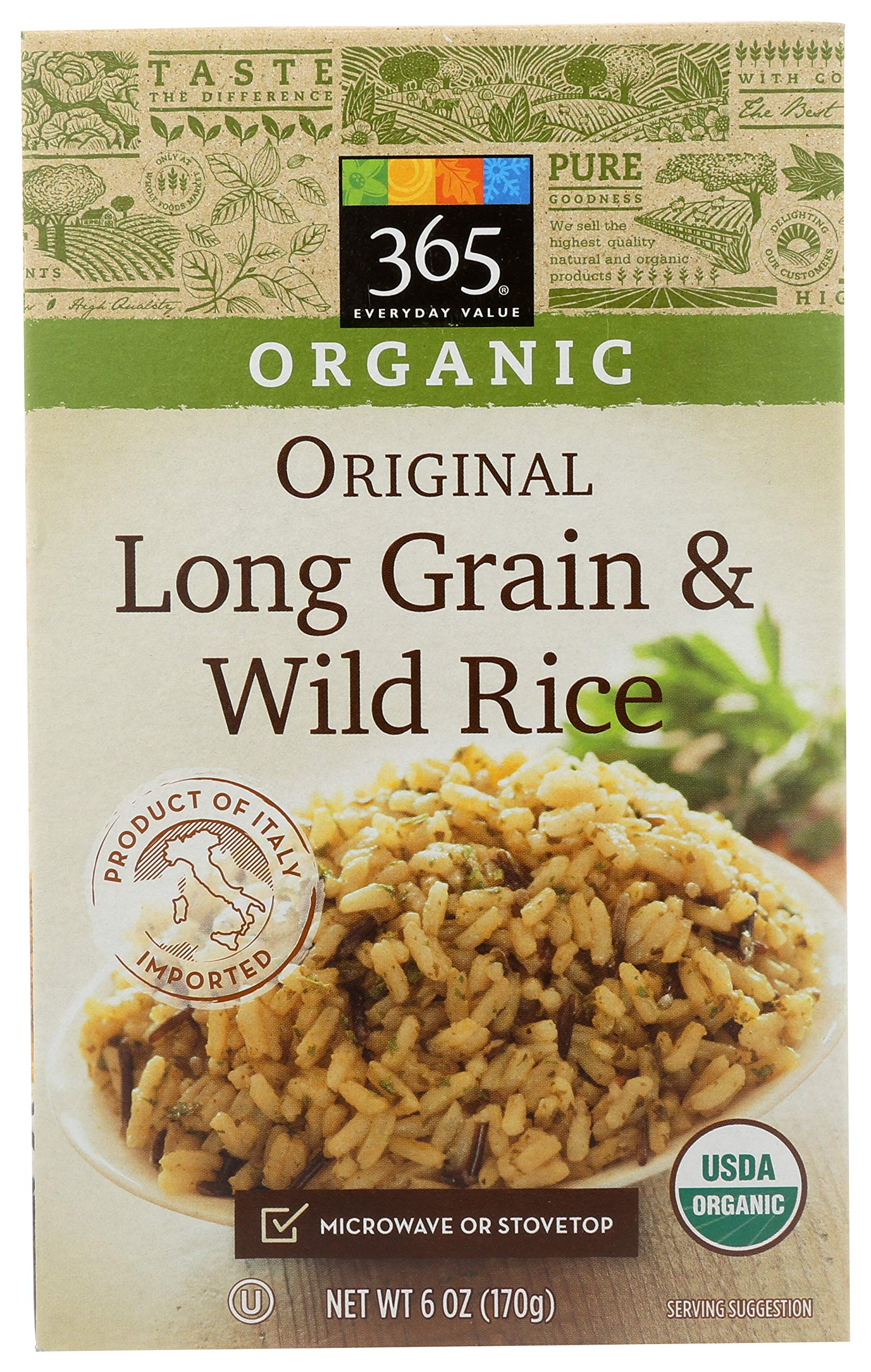 365 Everyday Value, Organic Long Grain & Wild Rice, Original, 6 oz